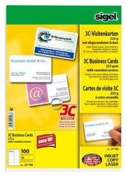 Visitenkarte Multiprint 225g weiss f. InkJet, Laser, KopiererVE = 1 Packung = 10 Blatt