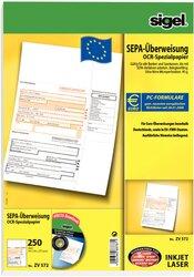 PC-SEPA-Überweisung 90g Ink/Laser beleglesefähigVE = 1 Packung = 250 Blatt