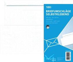 Briefumschlag DL, ohne Fenster, SK, 75 g/qm, weißVE = 1 Packung = 100 Stück