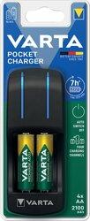 Akkuladegerät Pocket Charger inkl. 4 Stück 56706, Für Typen: AA, AAA,