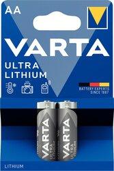 Batterie Lithium Mignon AA 2er Blister Packung