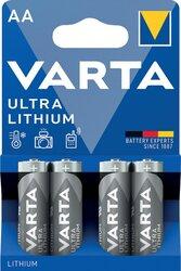 Batterie Lithium Mignon AA 4er Blister PackungVE = 1 Blister = 4 Batterien