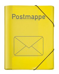Postmappe A4 VELOCOLOR PP VE = Packung = 6 Stück
