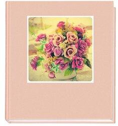 Gästebuch rosa 205x240 mit Karte Blumenstrauß