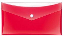 Sammeltaschen DIN lang rot mit zusätzlicher TascheVE = Packung = 6 Stück