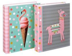 Ringbuch A4 Lama + Flamingo 2Rg 25 mm, 2 MotiveVE = Karton = 10 Stück