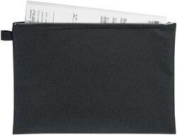 Bank- und Transporttasche A4, schwarz, mit Metallreißverschluss