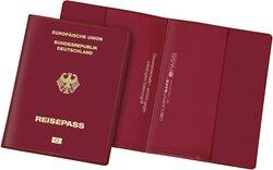 Document Safe Reisepass weinrot Schutzhülle PVC+Spezialfolie