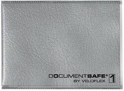 Ausweishülle Document Safe für eine Karte, silber.