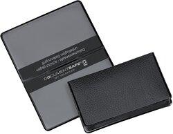 Document Safe Ausweis, schwarz Schutzhülle PVC+Spezialfolie 93x59mm