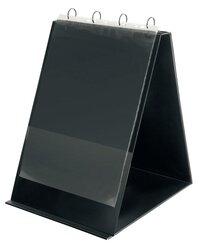 Tischflipchart A3 hoch schwarz 4-Rund-Ring-Mechanik Ø 30mm