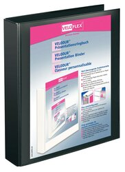Präsentationsringbuch Velodur A4 2-Ring 30mm Ringdurchmesser schwarz