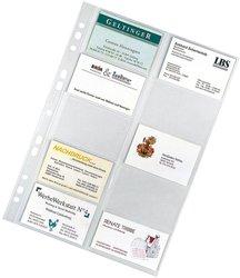 Visitenkartenhüllen A4 10 Hüllen für 105x55mmVE = 1 Beutel á 10 Hüllen
