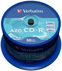 CD-Rohlinge 80 Min. 700MB 52-fach, 50-er Spindel1 VE = 1 Pack á 1 Spindel