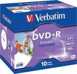 Rohling DVD+R 4,7 GB/120 Min. 16-fach im Jewel case1 VE = 1 Pack á 10 Stück