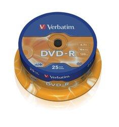 Rohling DVD-R 4,7 GB/120 Min. 16-fach, 25-er Spindel1 VE = 1 Spindel á 25 Stück