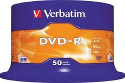 Rohling DVD-R 4,7 GB/120 Min. 16-fach, 50-er Spindel1 VE = 1 Speindel á 50 Stück