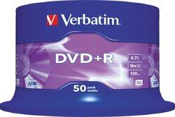 Rohling DVD+R 4,7 GB/120 Min. 16-fach, 50-er Spindel1 VE = 1 Pack á 50 Stück