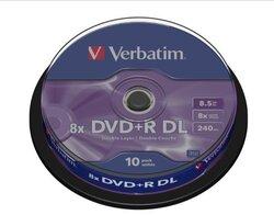 Rohling DVD+R Double Layer 8,5 GB, 8x, 10er Spindel1 VE = 1 Spindel á 10 Stück