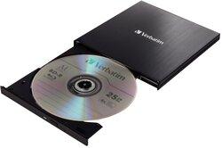 Portabler Slimline Blu-ray/MDic Brenner mit USB 3.0, 25 GB, schwarz