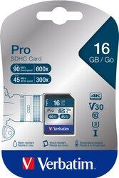 SDXC Speicherkarte, 16 GB, PRO Class 10, U3, UHS-I, 45MB/s 300x