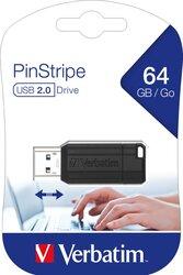 Speicherstick USB 2.0 64 GB PinStripe schwarz