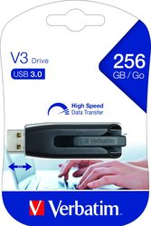 Speicherstick, USB 3.0, 256 GB, V3 grau, Store'n'Go