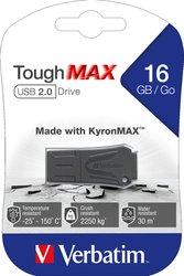 Speicherstick USB 2.0 16 GB ToughMAX, schwarz, Lesegeschwindigkeit: bis 8 MB/s, Schreibgeschwindigkeit: bis 2,5 MB/s