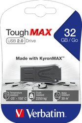 Speicherstick USB 2.0 32 GB ToughMAX, schwarz, Lesegeschwindigkeit: bis 12 MB/s, Schreibgeschwindigkeit: bis 5 MB/s