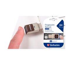 Speicherstick, USB 3.0, 64 GB, Fingerprint Secure, silber