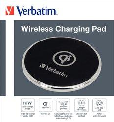 Qi-Wireless Charge, 5V, USB Micro-B, schwarz, Schnelllademodus mit 10 W