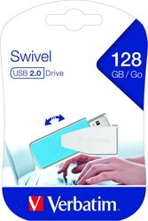 Speicherstick USB 2.0, 128 GB Store´n´Go Swivel, blau