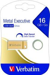 Speicherstick, USB 3.0, 16 GB, Metal Executive, gold, 2.5MB/s 17x