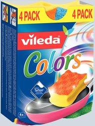 Schwamm Topfreiniger farbig 4 FarbenVE = 1 Packung = 4 Stück