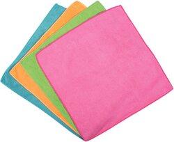 Microfaser Allzwecktuch, 4 Farben 100% Microfaser, besonders saugstarkVE = 1 Packung = 4 Tücher