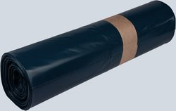 Müllsäcke LDPE, 120 Liter, 78 my, blau, 700 x 1100 mm,VE = 1 Rolle = 15 Säcke