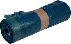Müllsäcke LDPE, mit Zugband, 120 Liter, 38 my, blau, 700 x 1100 mm