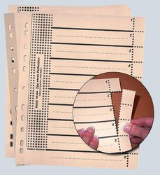 Trennblätter mit Perforation, 24x30cm, chamois, 230g/qm,VE = 1 Packung = 100 Blatt