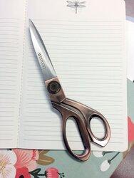 Schere Vintage Copper Finish 20,4 cm, gerade rostfrei Klinge, asymmetrische, Griffe