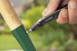 Edelstahl-Multifunktionswerkzeug,aus rostfreiem Stahl und ABS, faltbar, integrierte LED-Leuchte, Kombizange mit interner Feder, abnehmbares Taschenmesser, inkl. Nylontasche.