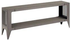 chamfer Lowboard, seiden-grau, 140 x 28 x 53 cm