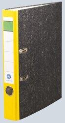 Ordner Wolkenmarmor A4, 50 mm, ohne Kantenschutz, gelb