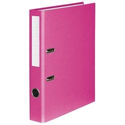 Ordner A4, PP/Papier, 50mm, ohne Kantenschutz, rosa
