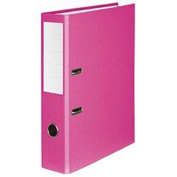 Ordner A4, PP / Papier, 80 mm, ohne Kantenschutz, rosa, einschiebbares Rückenschild