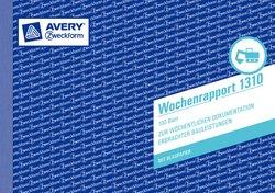 Wochenrapport, A5 quer, mit Blaupapier, 100 Blatt