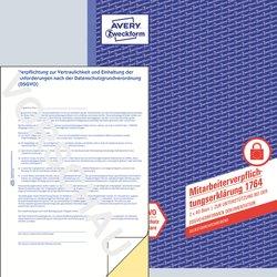 Mitarbeiterverpflichtung, DIN A4, selbstdurchschreibend, 2 x 40 Blatt, nach DSGVO