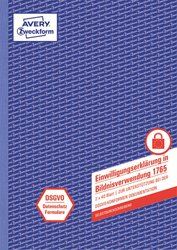 Einwilligung Bildnisverwendung A4, selbstdurchschreibend, 2 x 40 Blatt, DSGVO-konform