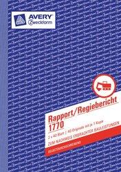 Rapport/Regiebericht A5, 2x40Blatt weiß/gelb, selbstdurchschreibend