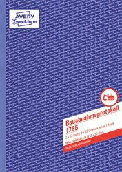 Bauabnahmeprotokoll, DIN A4, selbstdurchschreibend, 2 x 32 Blatt.