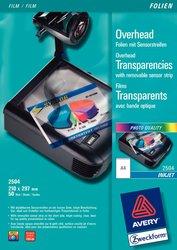 Inkjetfolie, DIN A4, 0,11mm, Sensorstreifen kopfseitig.